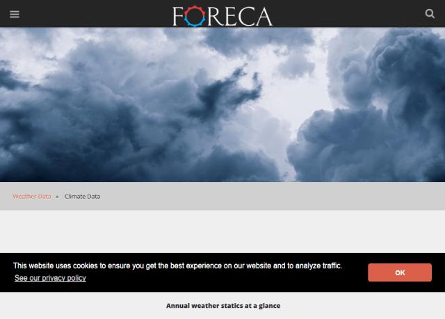 Foreca Climate Data API
