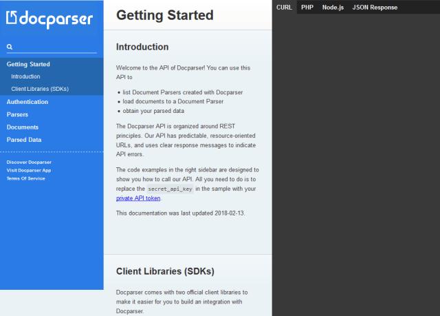 Docparser API