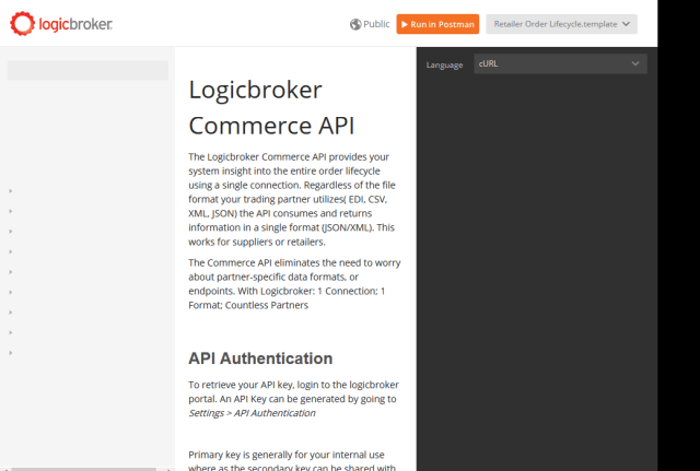 Logicbroker Commerce API