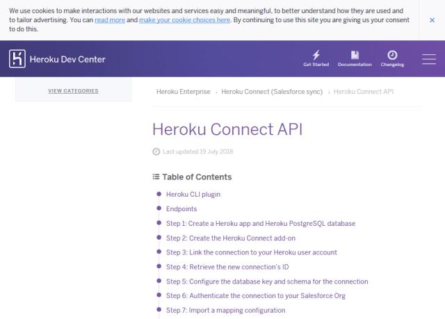 Salesforce Heroku Connect API