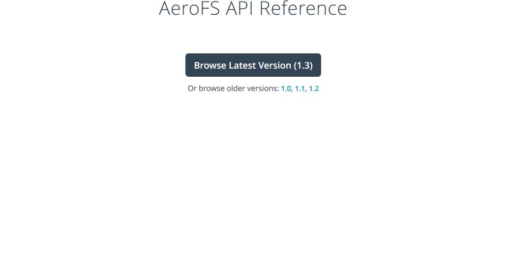 AeroFS API