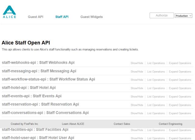 Alice Staff Webhooks API