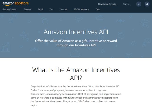 Amazon Incentives API