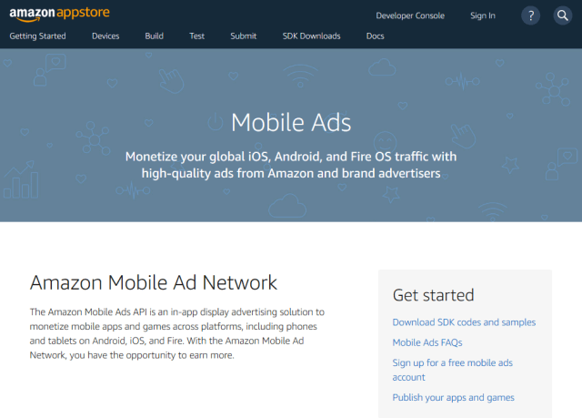 Amazon Mobile Ads API