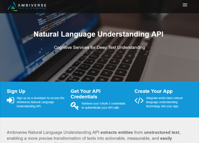Ambiverse Natural Language Understanding API