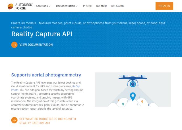 Autodesk Forge Reality Capture API