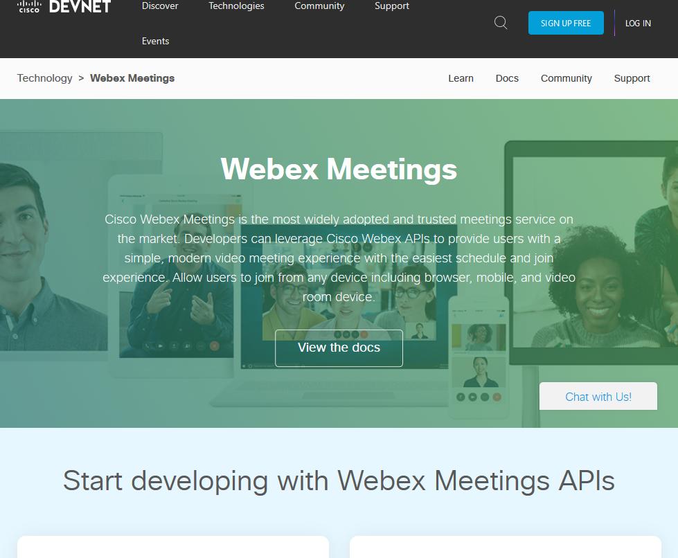 Cisco WebEx API