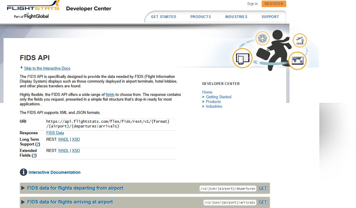 FlightStats FIDS API