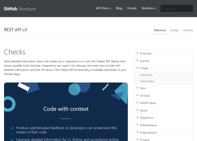Github Checks API (Overview, Documentation & Alternatives