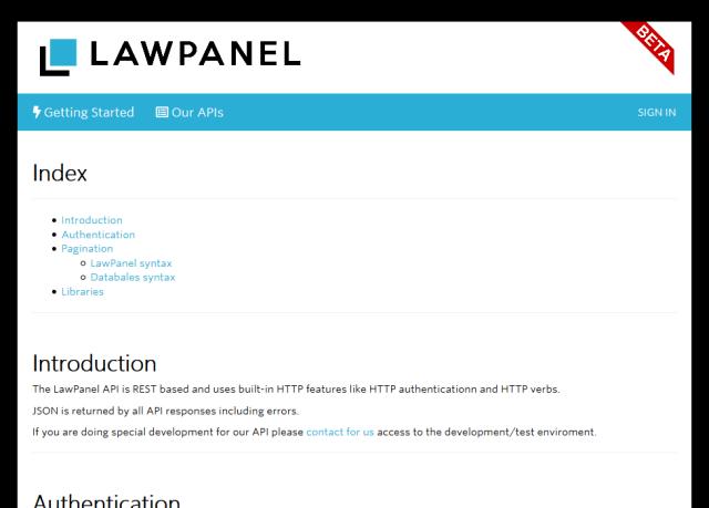 Lawpanel API