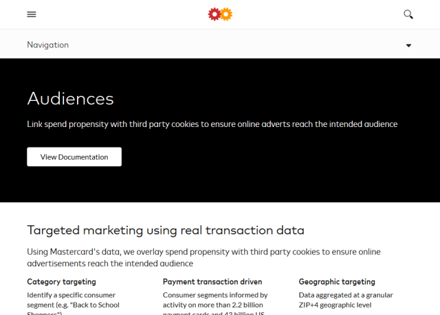 Mastercard Audiences API