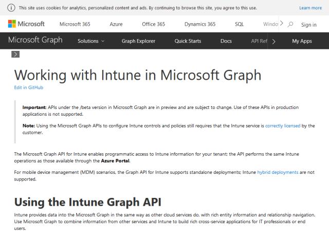 Microsoft Intune API