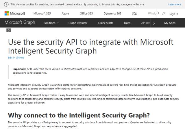 Microsoft Graph Security API