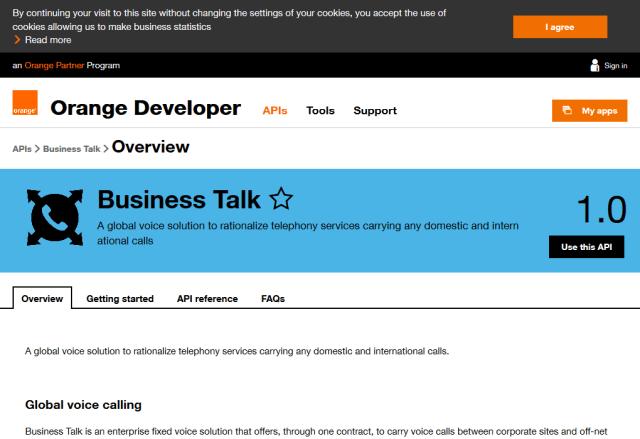 Orange Business Talk API