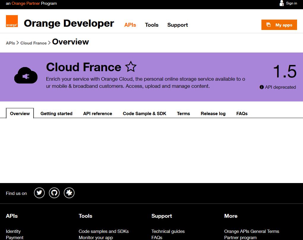 Orange Cloud France API
