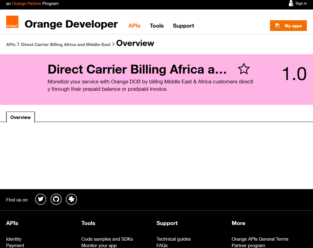 Orange Direct Carrier Billing Africa and Middle-East API