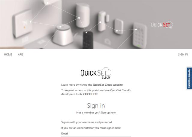 Quickset API