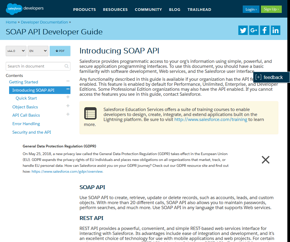 Salesforce SOAP API