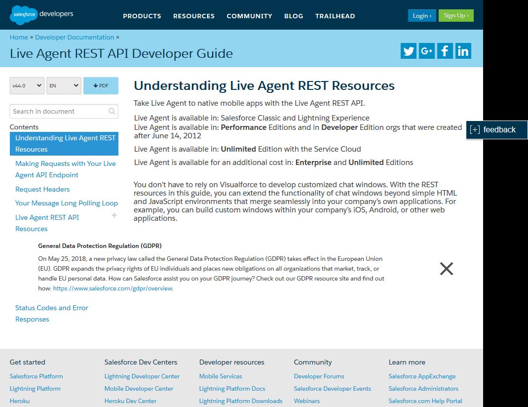 Salesforce.com Live Agent API