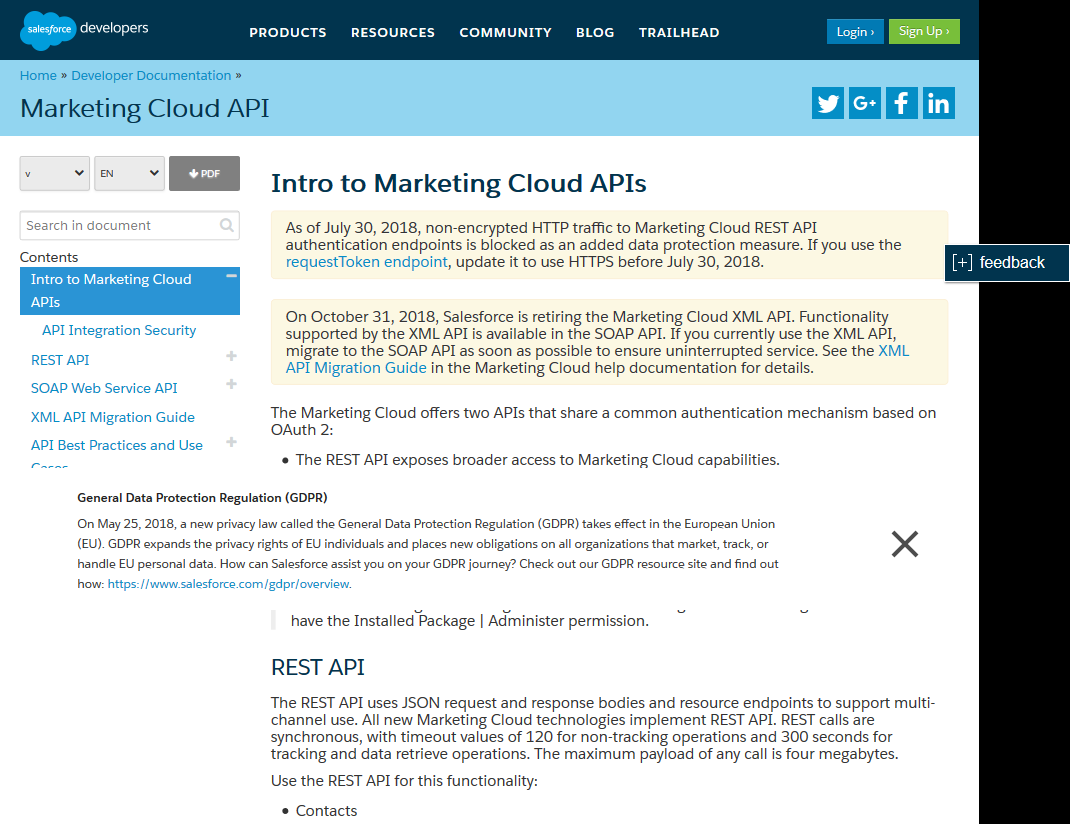 Salesforce.com Marketing Cloud API