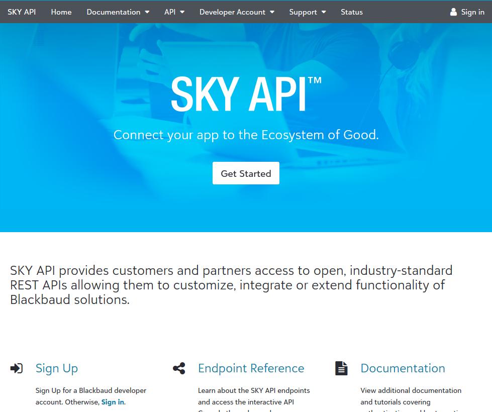 Blackbaud SKY API