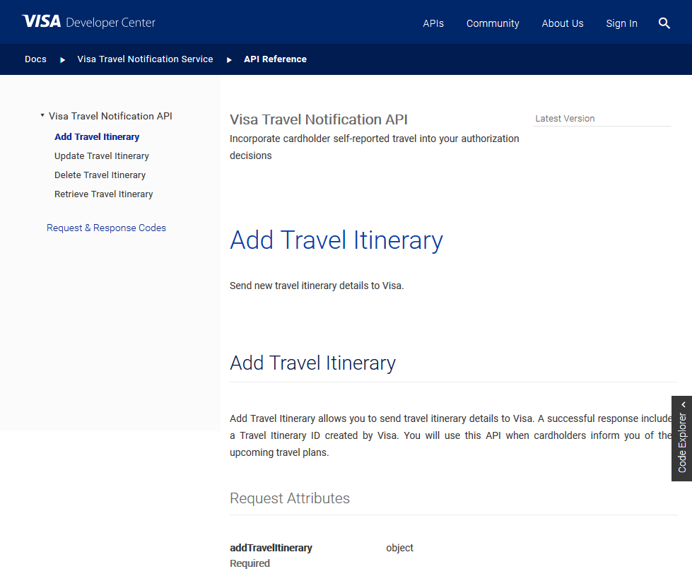 Visa Travel Notification API