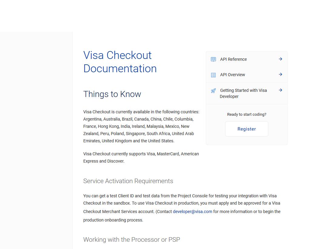 Visa Checkout API