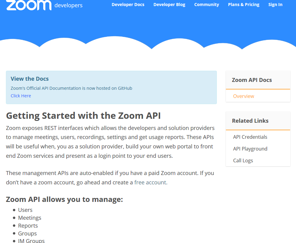 Zoom.us API