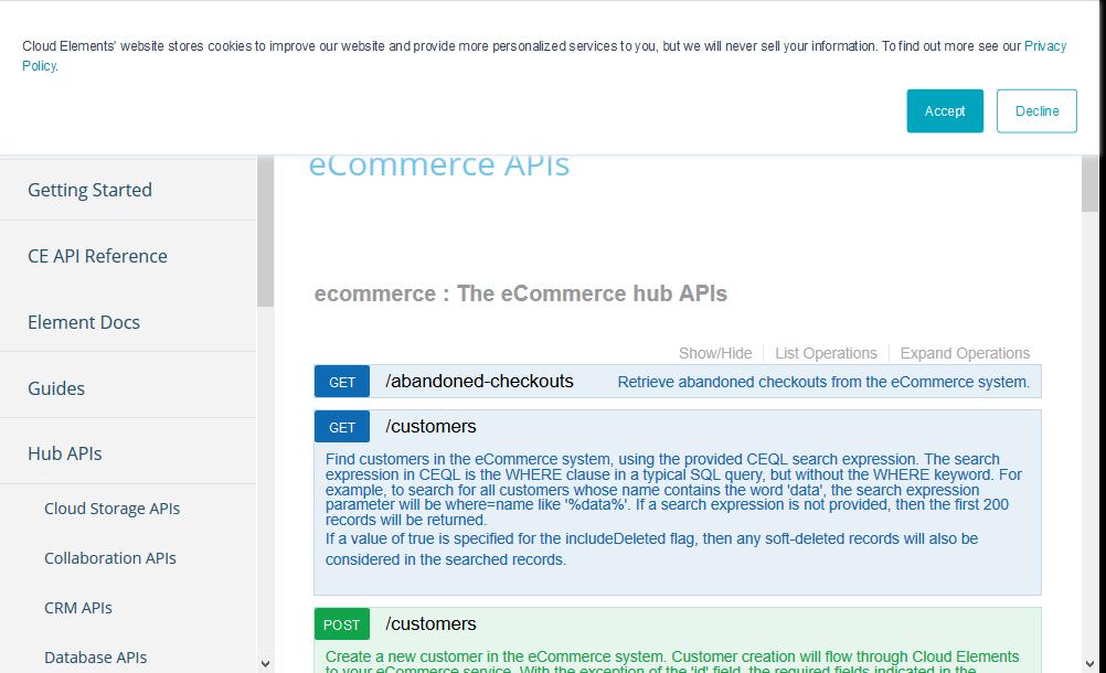 Cloud Elements eCommerce API
