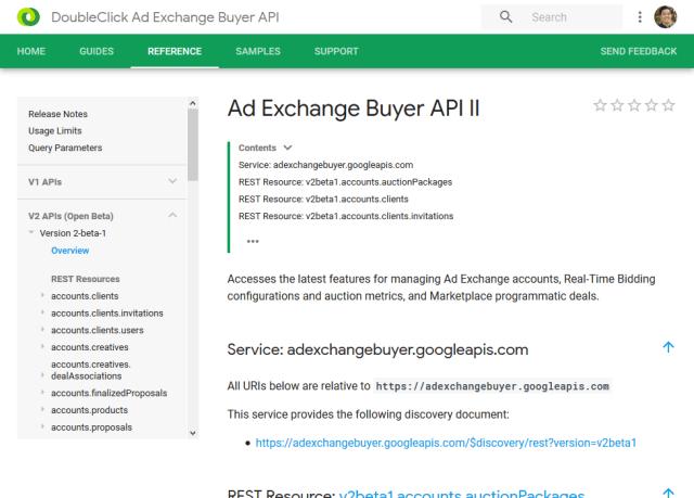 Google Ad Exchange Er Api Overview
