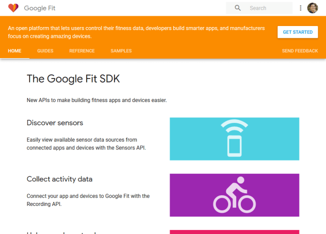 Google Fit Sessions API