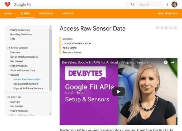 Google Fit Record API