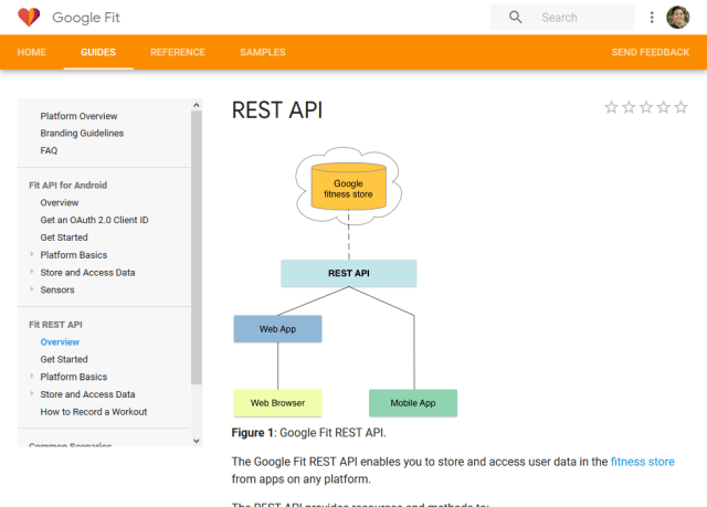 Google Fit Rest API