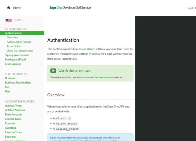 Sage One API