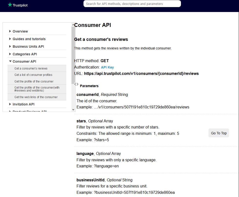 TrustPilot Consumer API