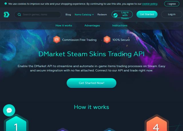 Dmarket Steam Skins Trading API