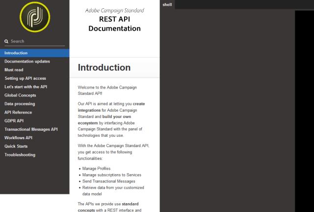 Adobe Campaign Standards API