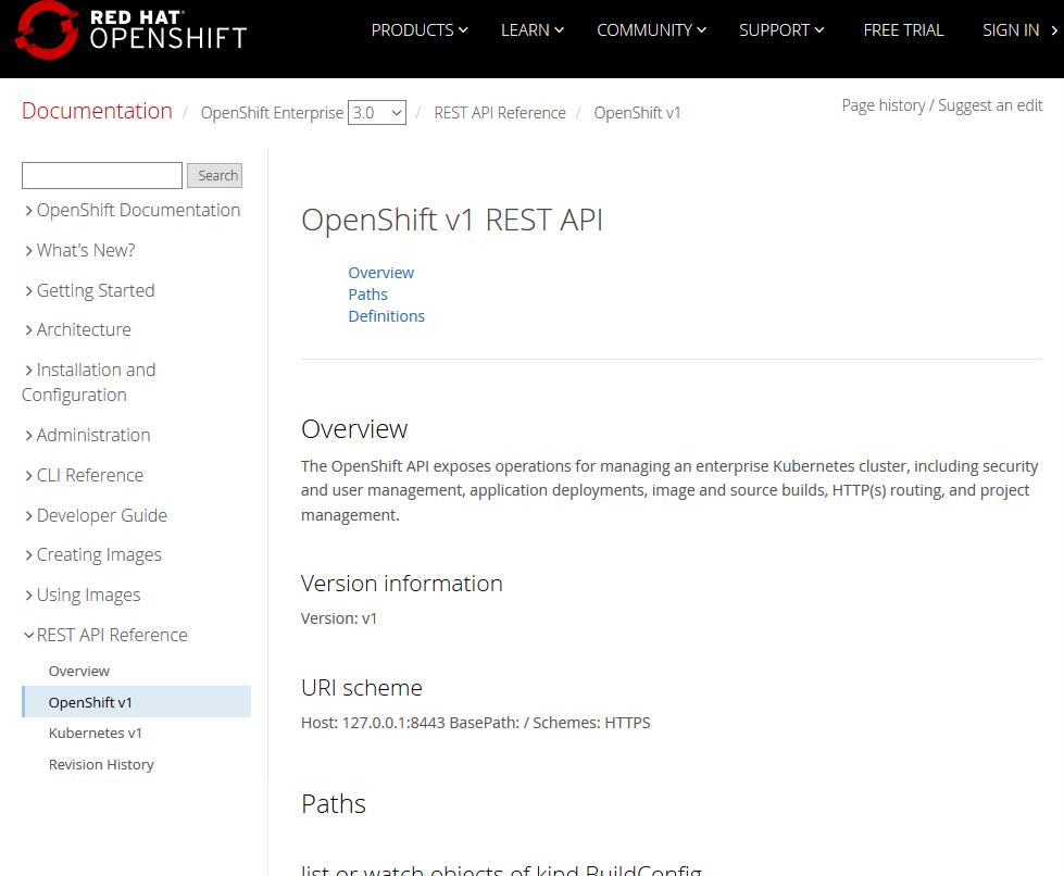 OpenShift Origin API
