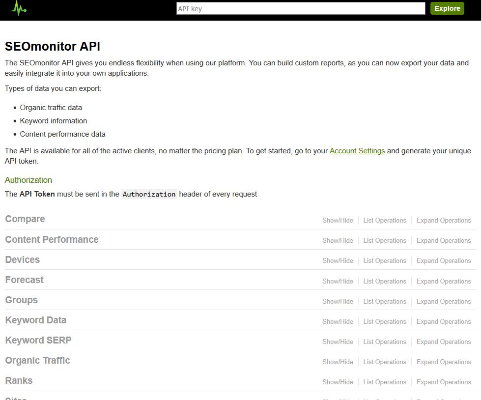 SEOMonitor API