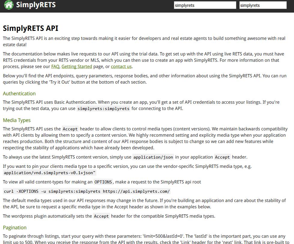 SimplyRETS API