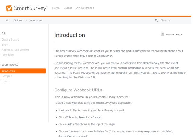 Smartsurvey Webhook API