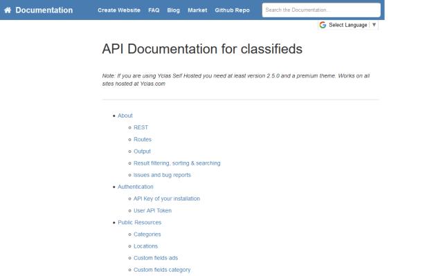 Yclas API