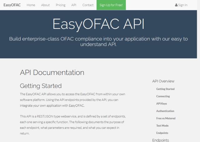 Openach Easyofac API