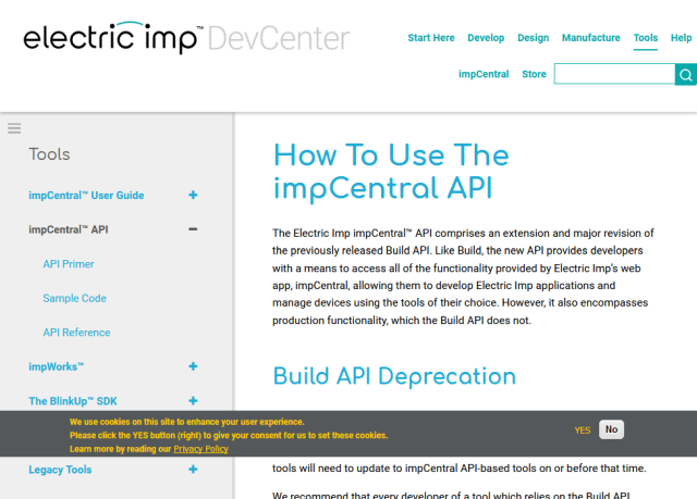 Electric Imp Build API