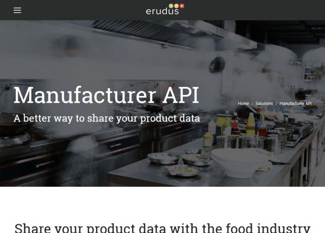 Erudus Manufacturer API