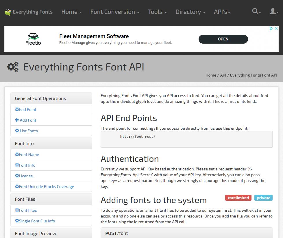Font API