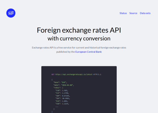 Exchange Rates Api Overview