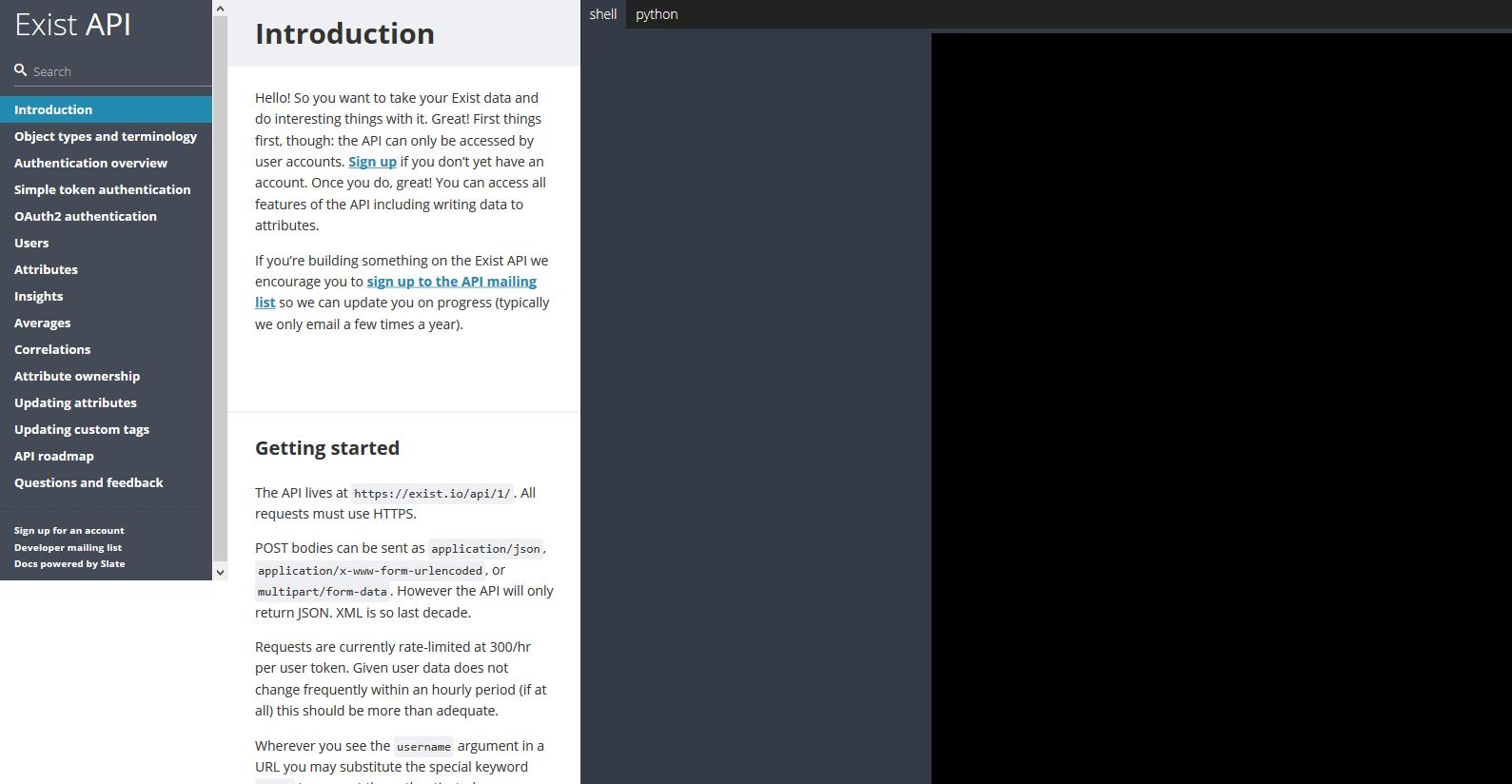 Exist API