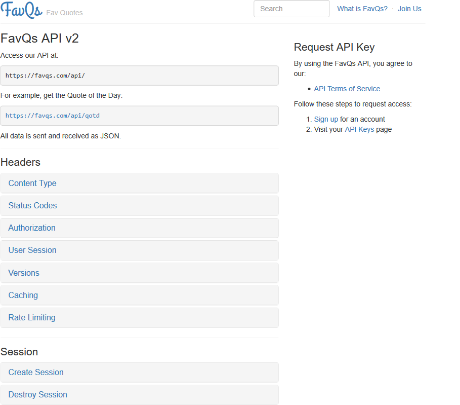 FavQs API