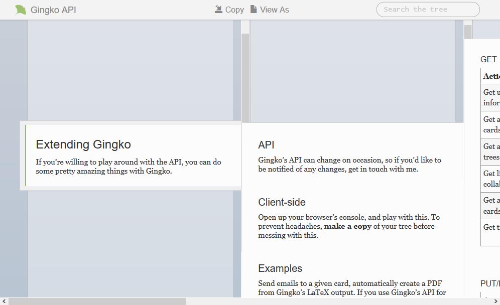 Gingko API